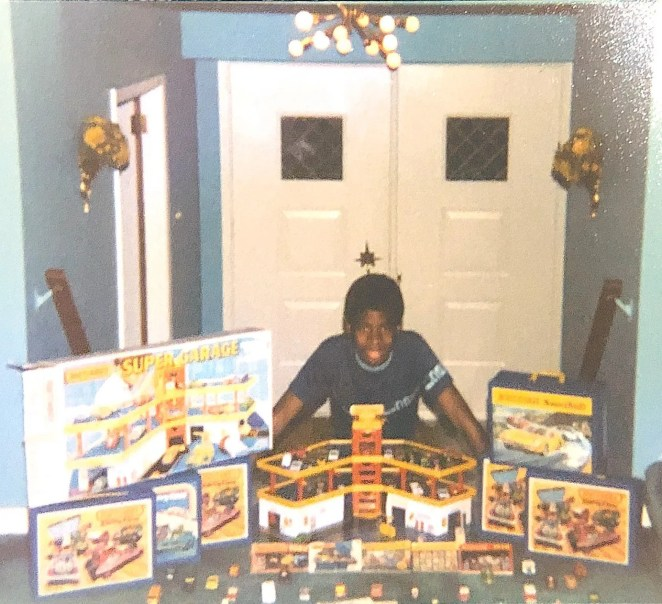 Chris Young, now a Ford designer who worked on the upcoming Bronco Sport, is pictured here with his Matchbox cars at age 9 or 10, circa 1982. His love of Matchbox cars inspired his artwork.
