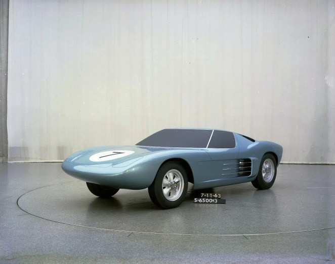 Designer McKinley Thompson Jr. worked on the GT40 Program at Ford Motor Company. This is an early prototype made of clay from 1963 of the famous GT40 that Ford raced to eventually beat Ferrari.