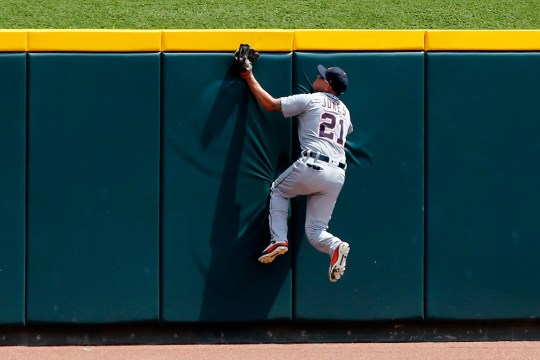 JaCoby Jones had an excellent midfield catch against the Reds on the opening weekend of the Detroit Tigers.