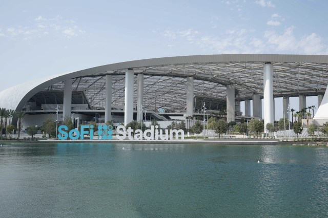 A general overall view of SoFi Stadium. The venue, the home of the Los Angeles Rams and the Los Angeles Chargers, will be the site of Super Bowl 56 in 2022 and the 2028 Olympics opening and closing ceremonies.