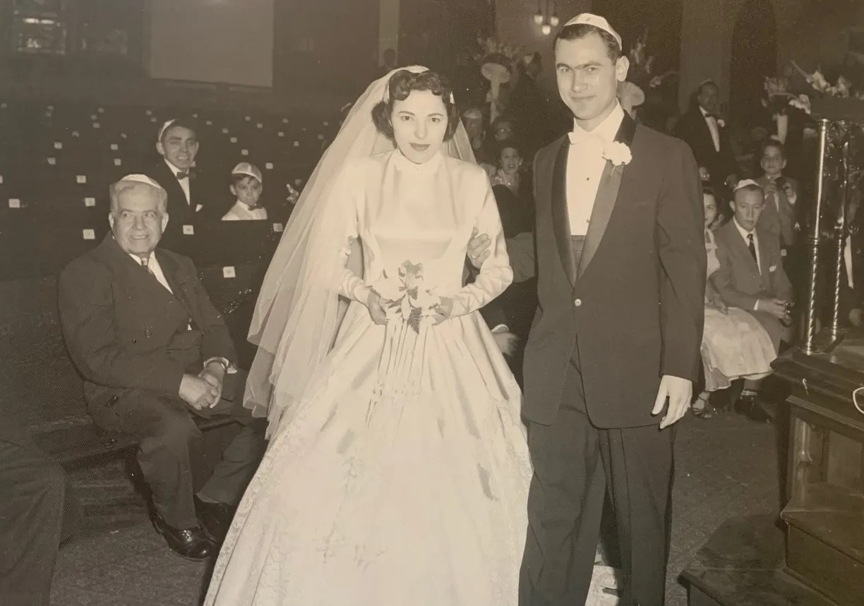 Ernie Gross, right, and his first wife, Bella, who also was a Holocaust survivor. Neither ever spoke of their experiences, but after Bella's death, Ernie Gross realized he needed to share his story.
