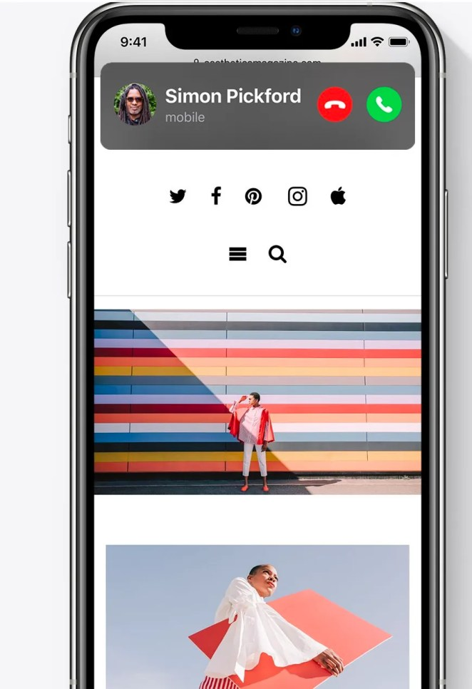 The compact look to calls in iOS14