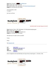 In early May, Smithfield foods was seeking a federal order to reopen its Sioux Falls, North Dakota pork plant. In this email exchange between company and USDA officials, the company gets what it wanted.