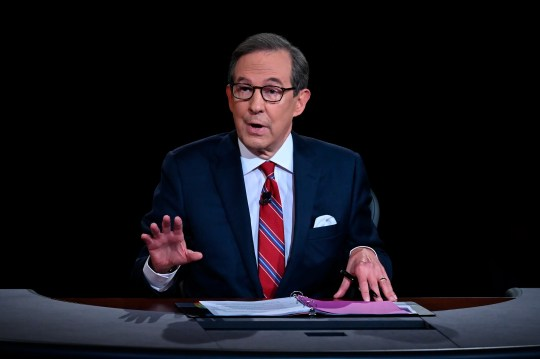 Moderator Chris Wallace of Fox News speaks during the first presidential debate with President Donald Trump and Democratic presidential candidate former Vice President Joe Biden Tuesday, Sept. 29, 2020, at Case Western University and Cleveland Clinic, in Cleveland.