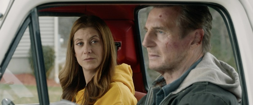 Kate Walsh (left) learns to accept her boyfriend (Liam Neeson) and his bank-robbing past in