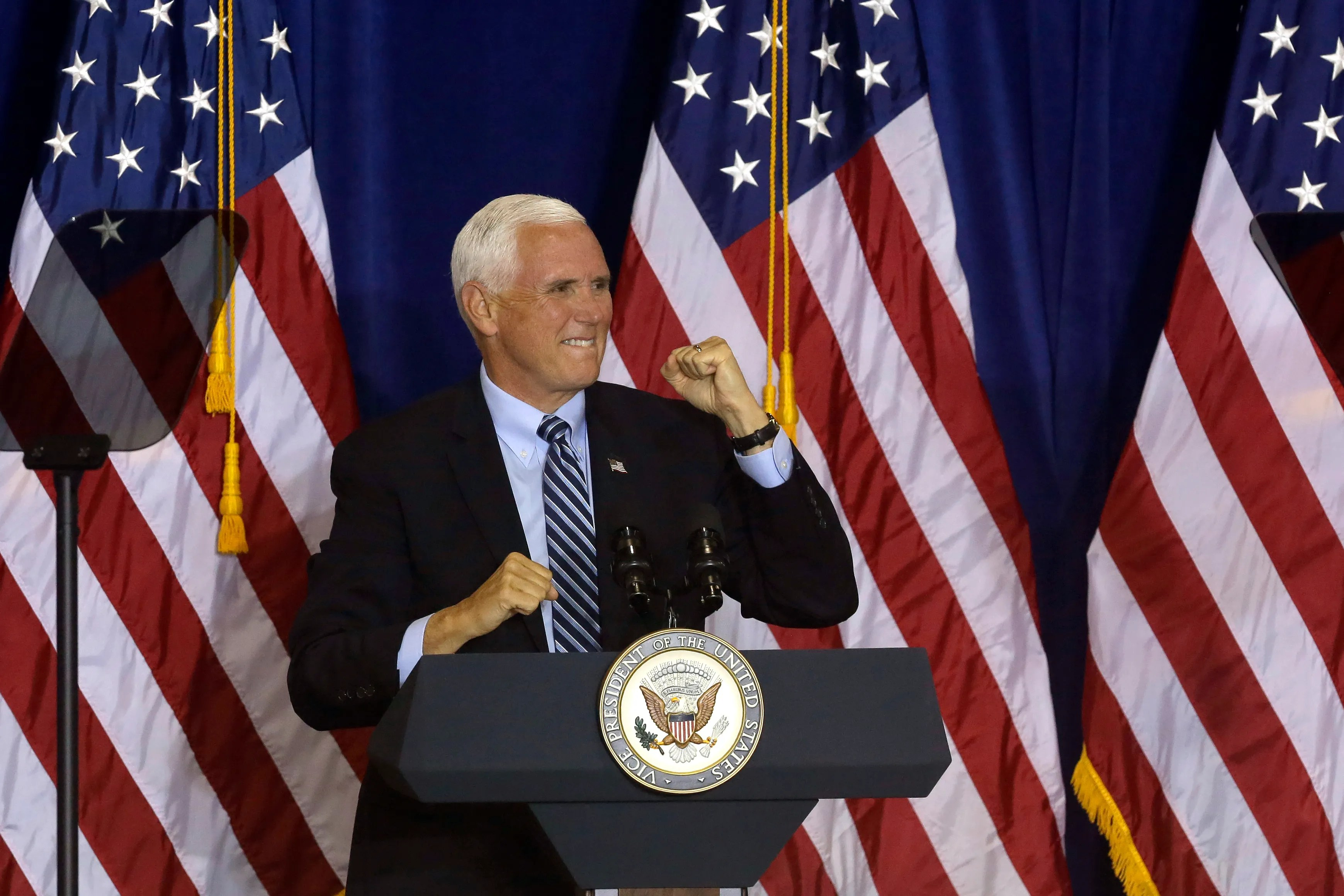 Vice President Mike Pence on October 19, 2020 in New Cumberland, Pennsylvania.