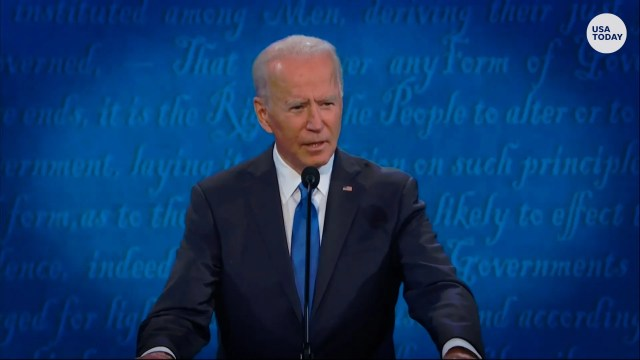 President Joe Biden, pictured here during the final debate of the 2020 campaign, bristled at questions about his mental fitness during the presidential campaign.