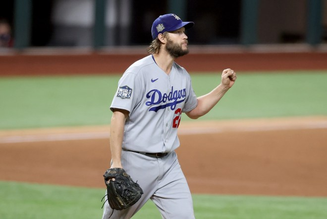 Clayton Kershaw won Game 5 for the Dodgers to put them within one win from the World Series.