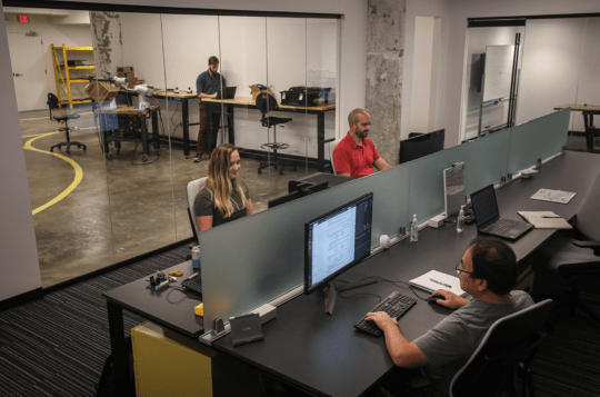 Dextrous Robotics' headquarters is located at Memphis' Crosstown Concourse, where six of its engineers work.