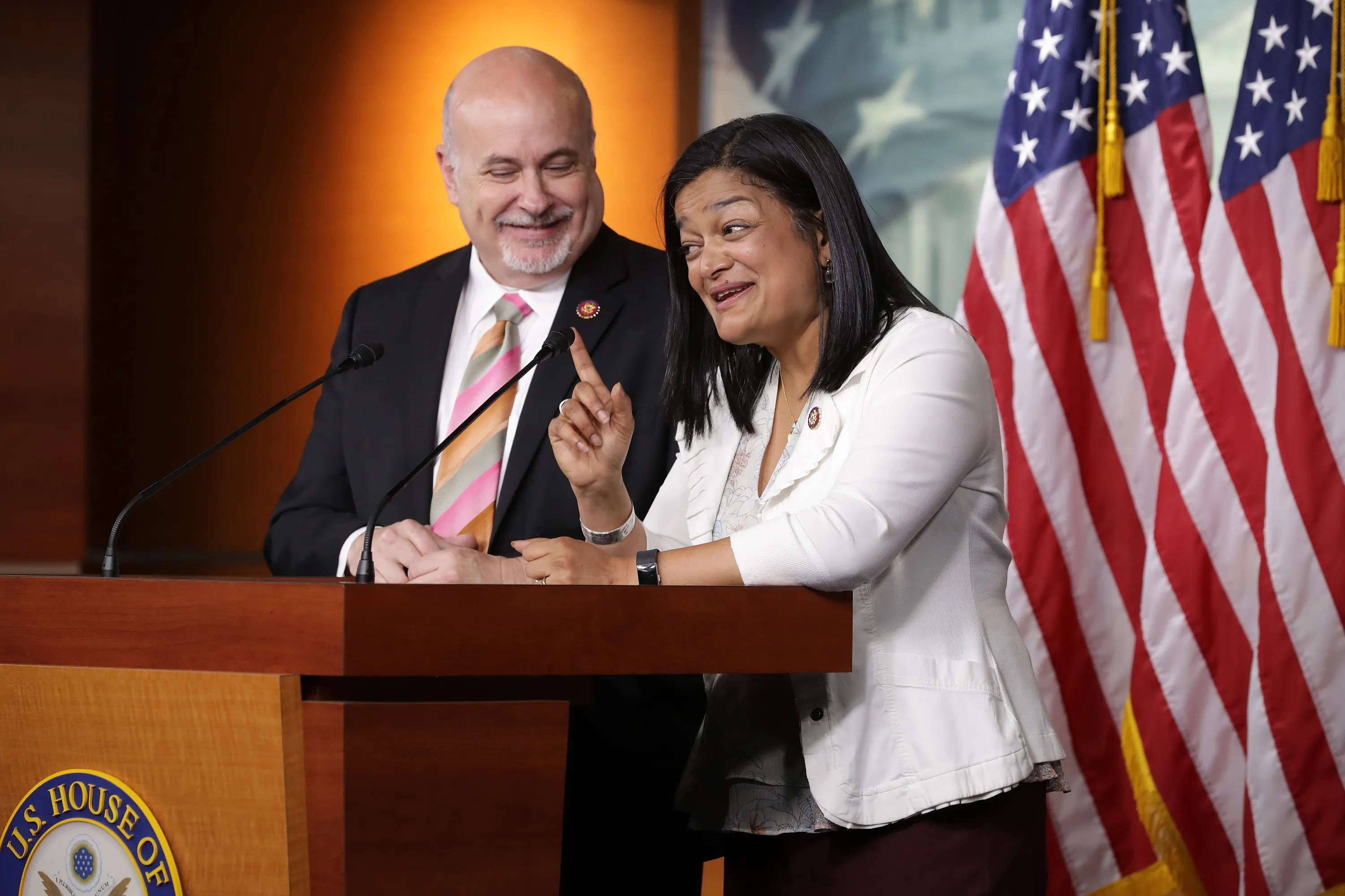 Representatives Pramila Jayapal, D-Wash., And Mark Pocan, D-Wis., Are co-chairs of the Congressional Progressive Caucus.