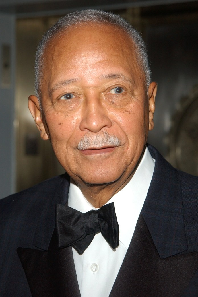 Former Mayor David Dinkins arrives at the New Yorker for New York Awards on February 10, 2003, at the Waldorf Astoria in New York City.