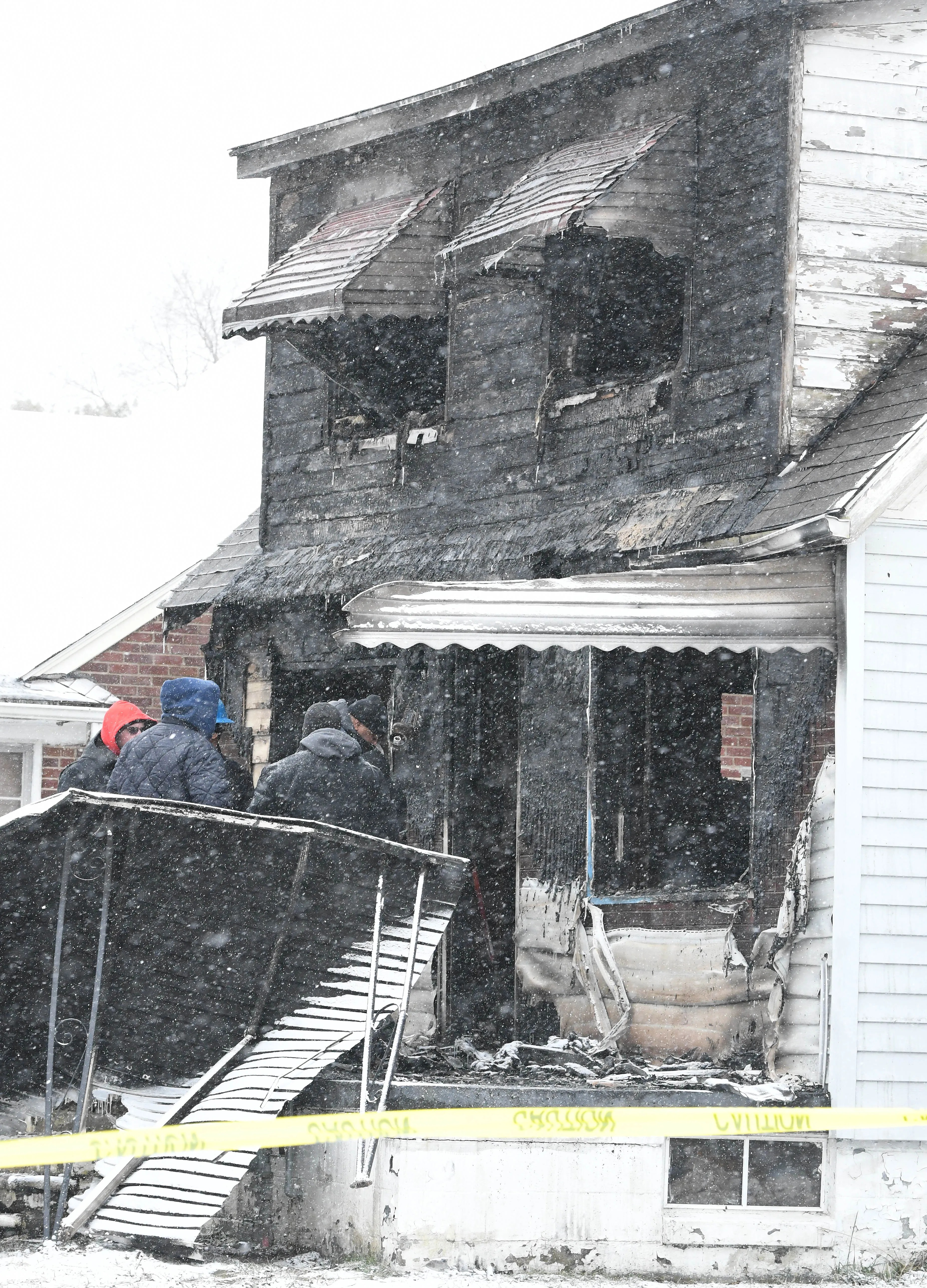 Fire at a house in the 20000 block of Helen Ave. takes two boys lives in Detroit, Michigan  on December 25, 2020.