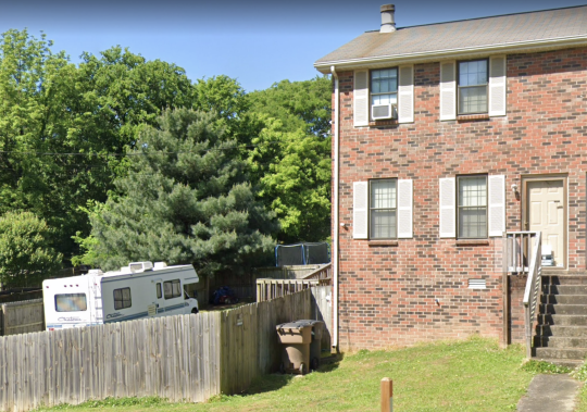 An RV that looks like one involved in an explosion in downtown Nashville on Christmas is parked in the backyard of a home in Antioch, Tenn., in this Google Maps photo. Law enforcement authorities searched the home Dec. 26.