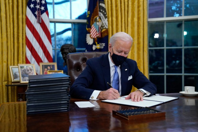 Biden used pen made by Providence company to sign executive orders