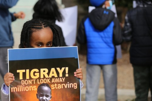 Louisville's Ethiopian community called on the Biden Administration to ramp up pressure to stop the conflict in their nation's Tigray region, which they said has caused a humanitarian disaster.