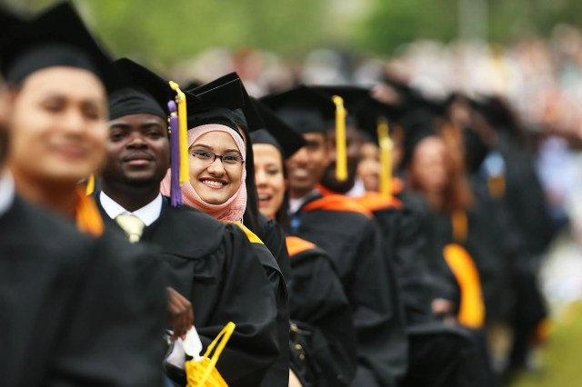 Graduating students at City College on June 3, 2016, in New York City.