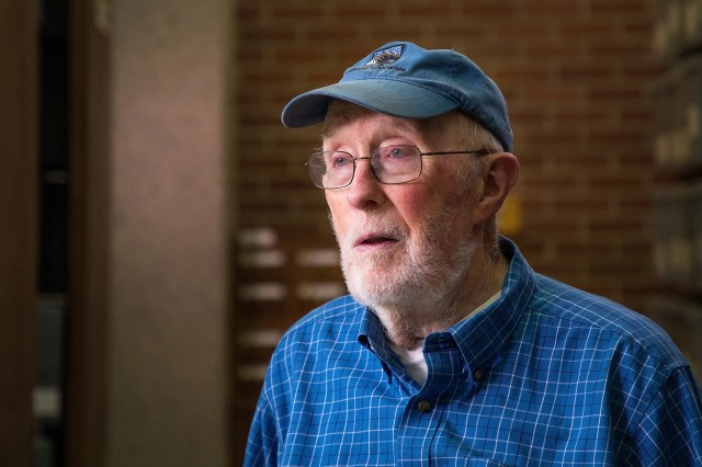 Tom Brock, emeritus professor of bacteriology at UW-Madison, is pictured in 2017 during the 14th Annual Research in the Rotunda, an event that showcases the work of UW undergraduates at the Capitol Rotunda in Madison, Wisconsin.