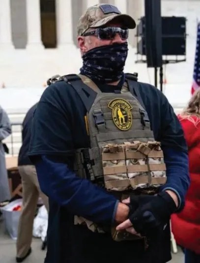 Kelly Meggs, according to the FBI, is the leader of the Oath Keepers in Florida, and was arrested and charged with participating in the Capitol riot.