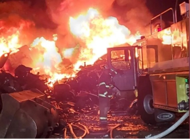 Crews responding to fire in Brown County scrap yard (image)