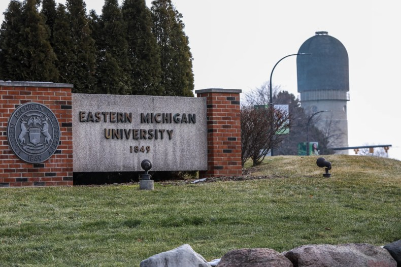 Eastern Michigan University campus in Ypsilanti on Wednesday, Jan.13, 2021.