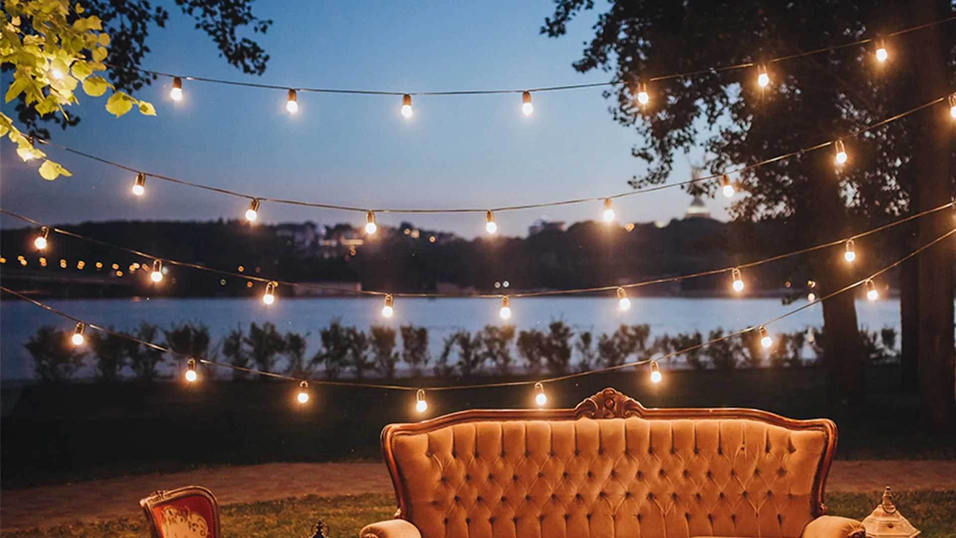 outdoor lighting save on string lights