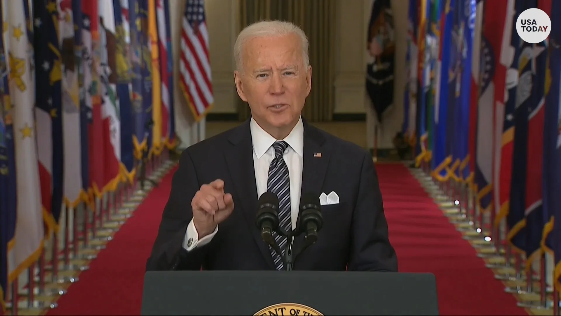 """President Biden condemned """"vicious"""" hate crimes against Asian Americans while addressing the nation about the COVID-19 pandemic."""