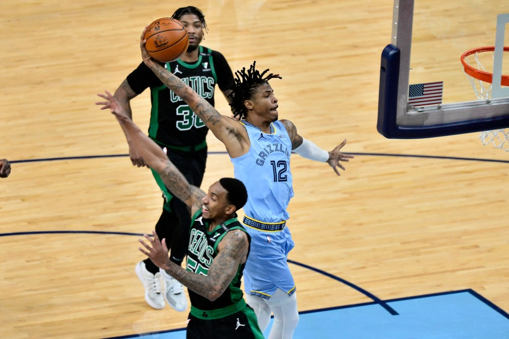Morant, Brooks lead Grizzlies past Celtics in overtime