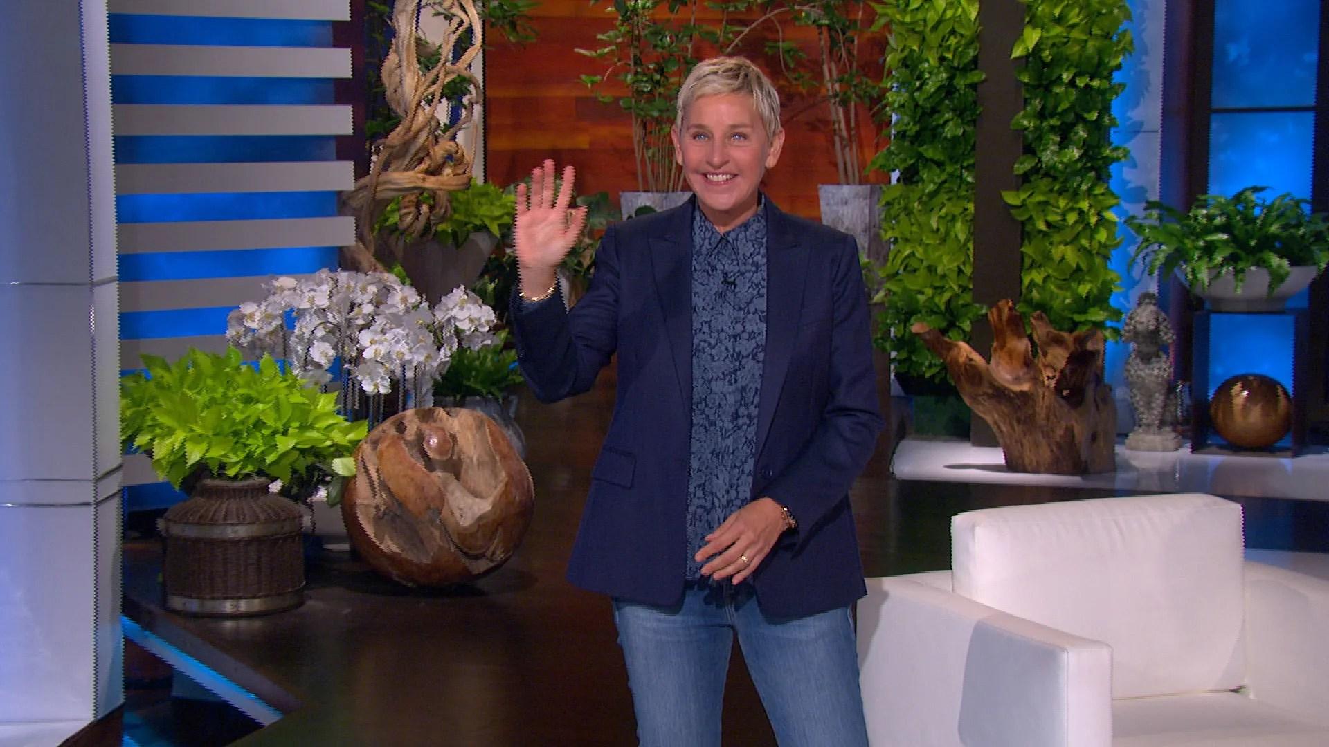 """Ellen DeGeneres speaks during the March 23, 2021, episode of """"The Ellen DeGeneres Show."""""""