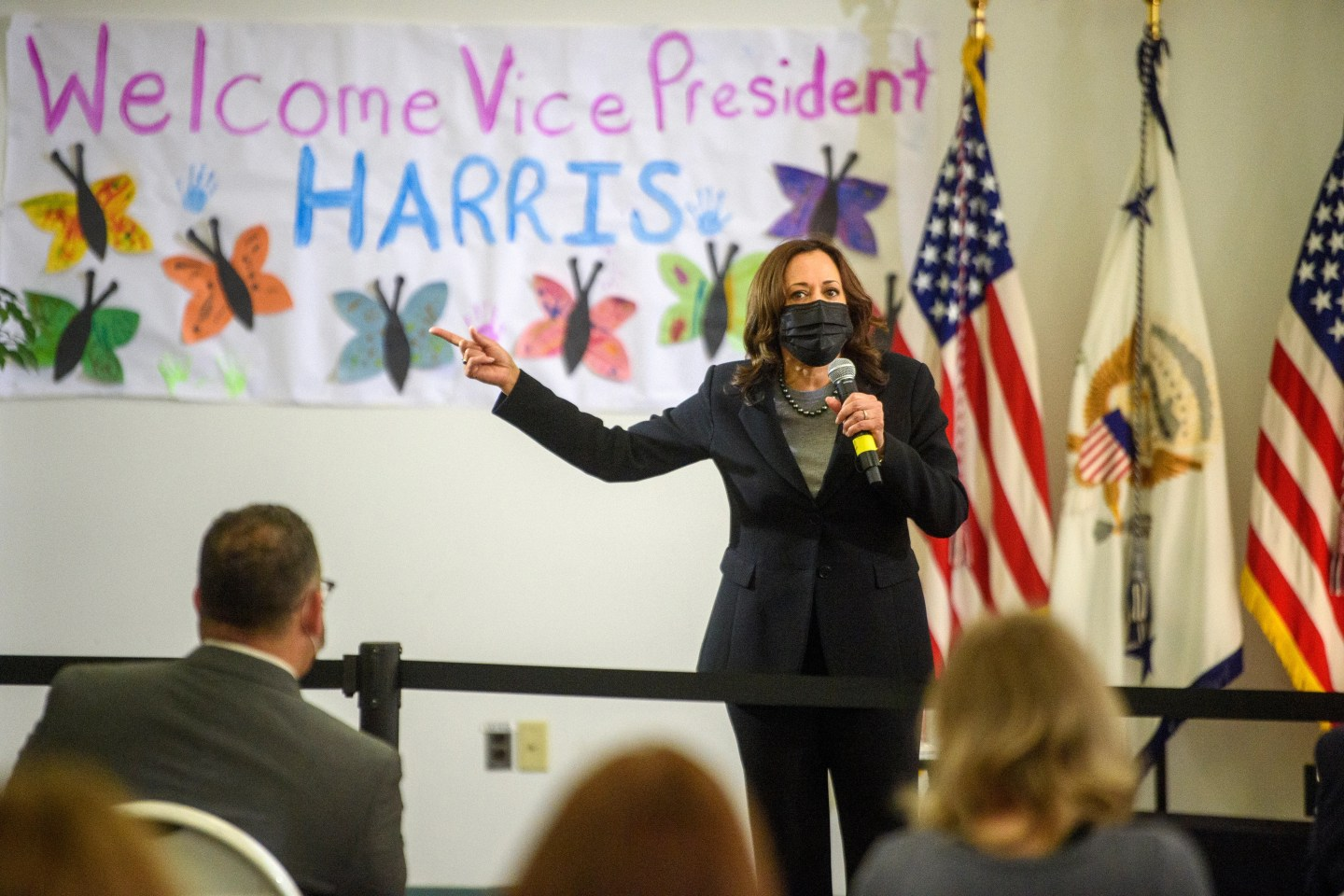 Vice President Kamala Harris on March 26, 2021, in New Haven, Connecticut.