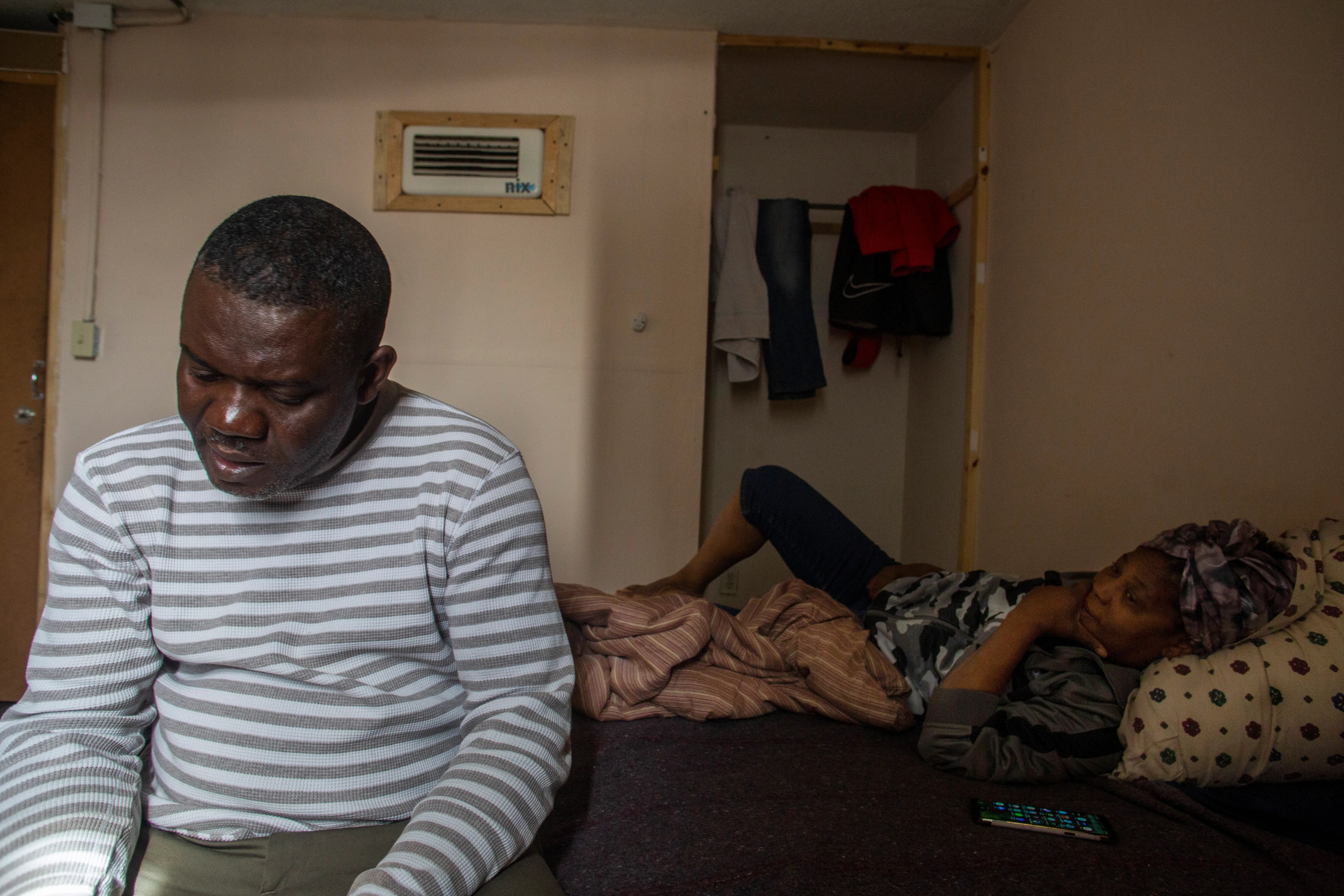 Marie Martine and her husband Fanfan Jean discuss their next options after a failed attempt to be allowed to remain in the U.S. The couple have lived in Mexico for the last five years in Tijuana.