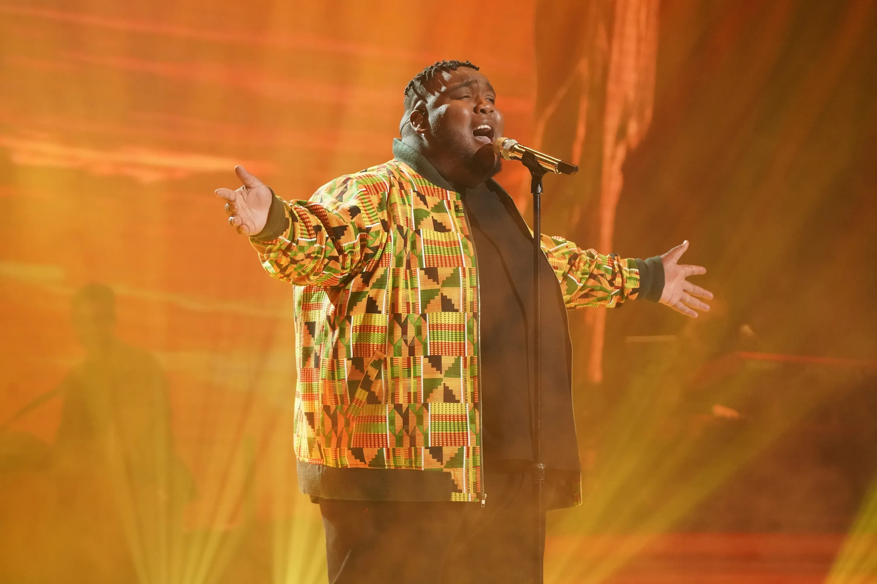 """Willie Spence, 21, put his powerful voice to use on a rousing performance of """"Circle of Life"""" from """"The Lion King."""""""
