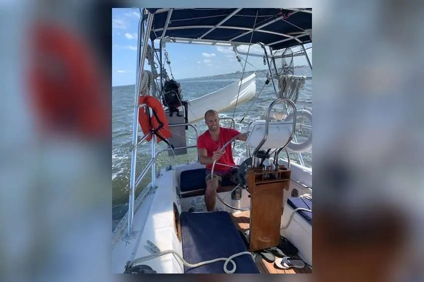 Doug D'Angelo, of Titusville, Fla., moved onto a 36-foot sailboat a year ago to avoid paying the skyrocketing cost of rent.