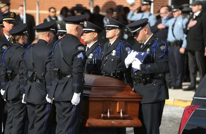 Dayton, Ohio, police honor Det. Jorge Del Rio, gunned down during a drug investigation in 2019.