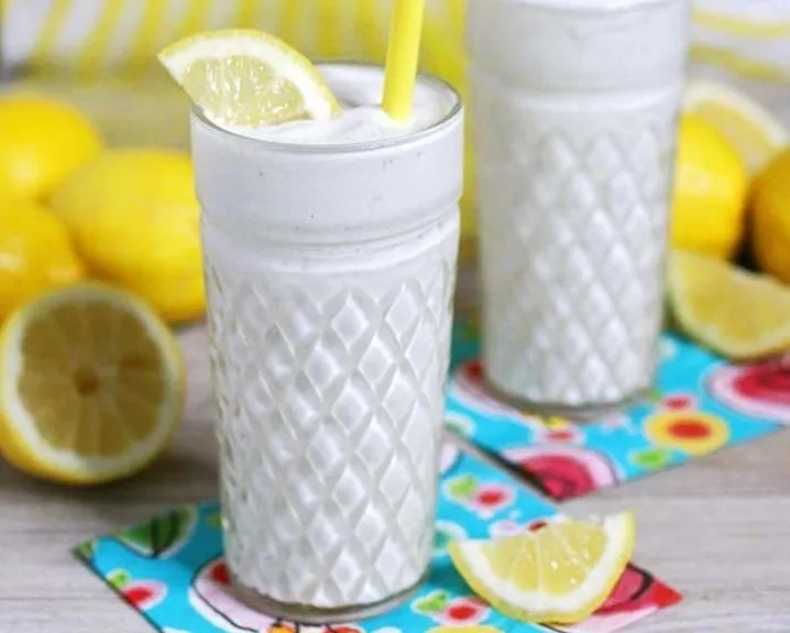 Cool off this summer with a glass of frozen lemonade.