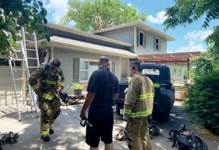 Fire blamed on electrical problem (image)