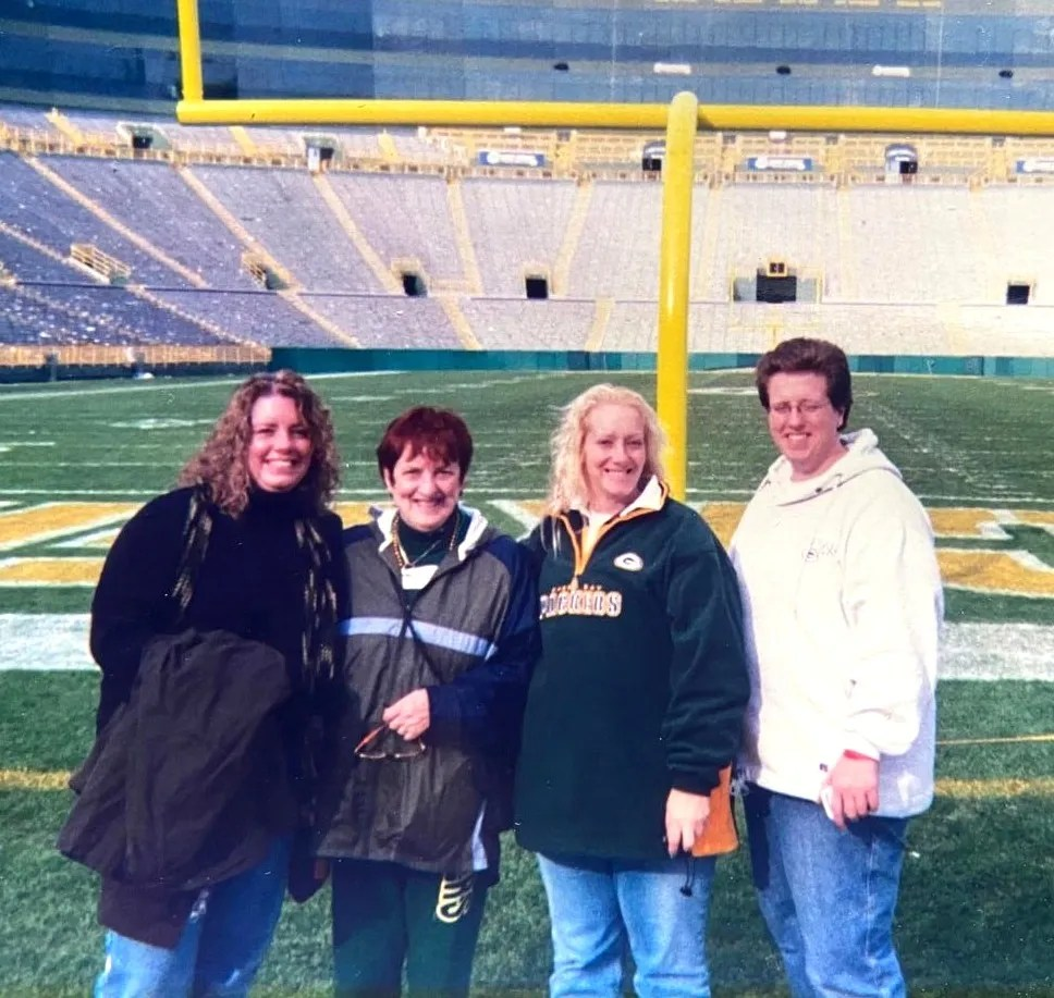 After their father died, Morrisey and her sisters decided to surprise their mother on her first trip to Lambeau Field in Green Bay, Wisconsin.