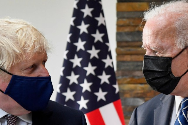 President Joe Biden and British Prime Minister Boris Johnson have a lot to talk about ahead of the G-7 summit in Cornwall, UK.