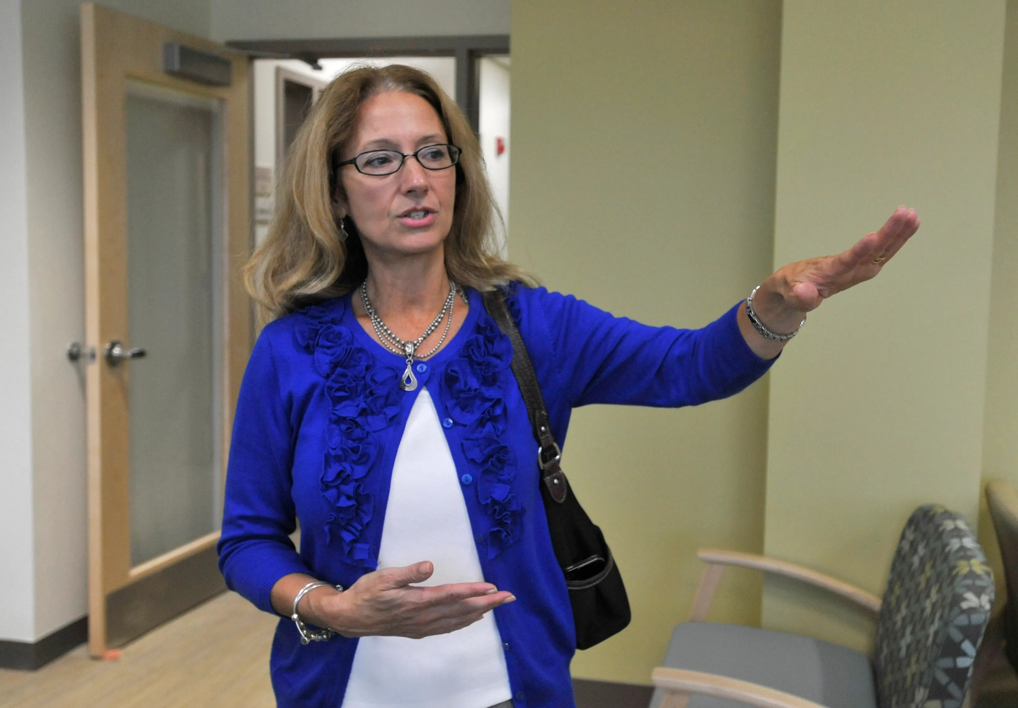 Karen Gardner, chief executive officer at the Community Health Center of Cape Cod, shown in a file photo, was one of the presenters Thursday' at Cape Cod Foundation's  virtual panel on the effects of pandemic on mental health. [CAPE COD TIMES FILE]
