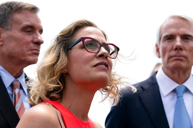 """Sen. Kyrsten Sinema's reservations about the """"human infrastructure"""" push could force Democrats to scale back the budget reconciliation bill."""