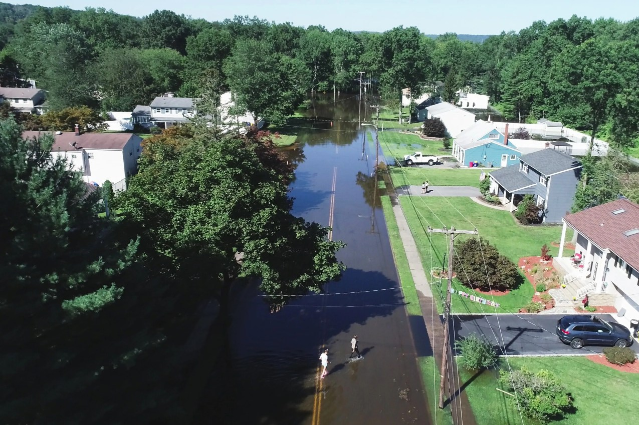 Tropical Depression Ida brought an unprecedented amount of rain to Northern New Jersey. A flooded neighborhood on W. Williams St in Lincoln Park, N.J. on Thursday Sept. 2, 2021.