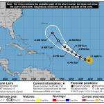 Hurricane Larry path over Atlantic Ocean; Category 4 strength forecast 💥💥