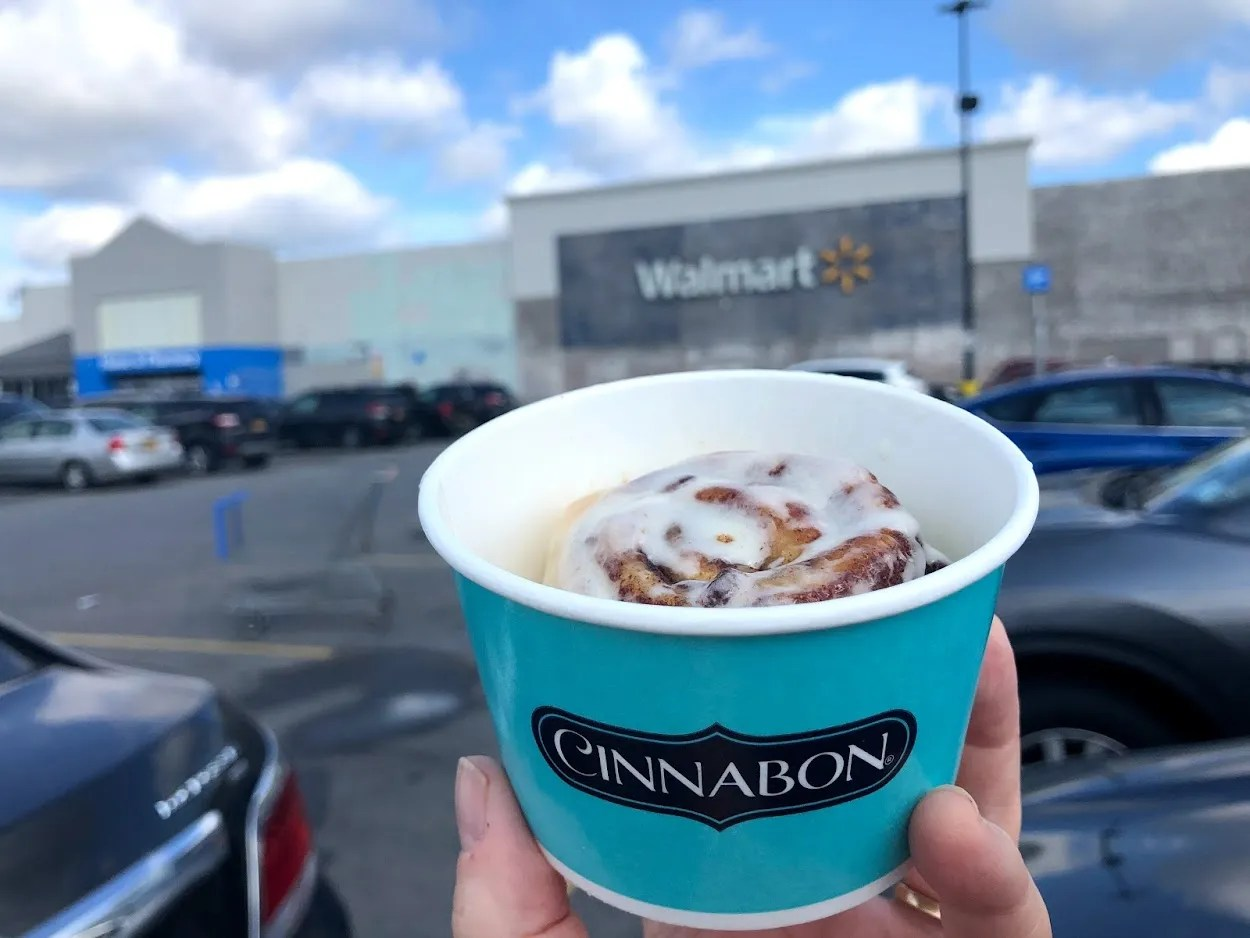 A mini Cinnabon cinnamon roll was purchased at the Ghost Kitchens Brands location at the Walmart in Chili.