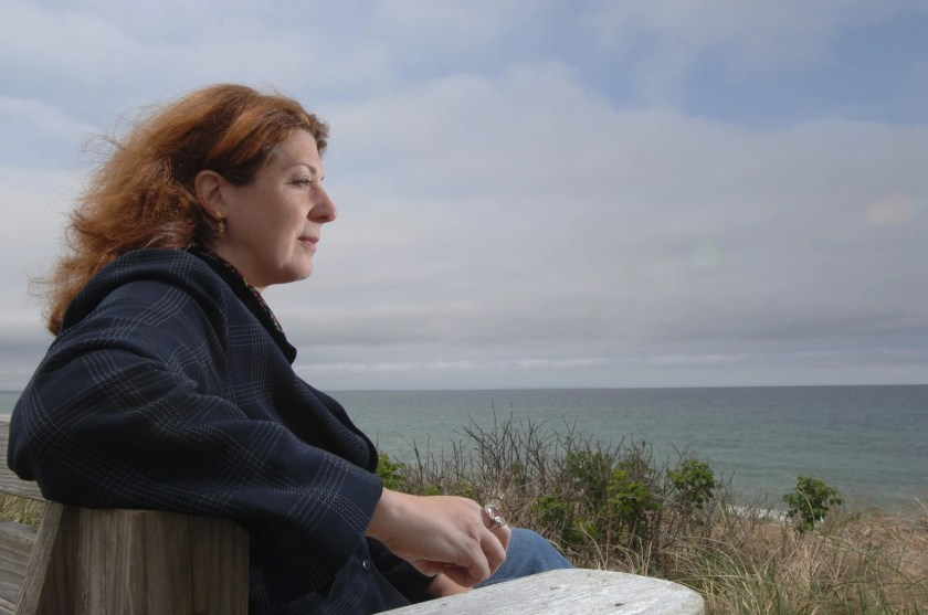 Director Gwen Wynne looks out over Cape Cod Bay in Dennis in 2007 while filming the movie now known as