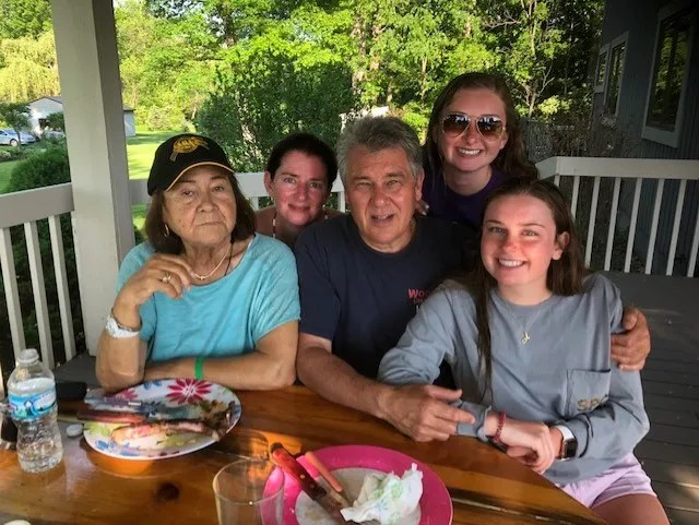 Margherita Mucci (left) is pictured with family members.