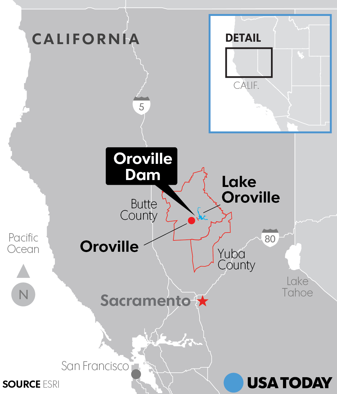Map Hwy 70 Oroville Ca Area