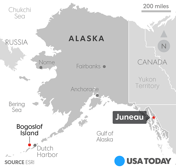 Alaska volcano erupts, triggers highest aviation warning