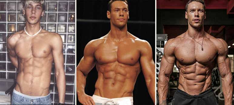 Bilder: Anton Antipov fing aufgrund seines Jobs als Model mit dem Bodybuilding an.