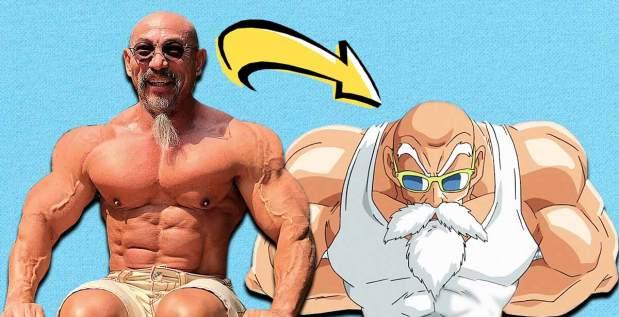 Titelbild: Bodybuilder sieht aus wie Master Roshi