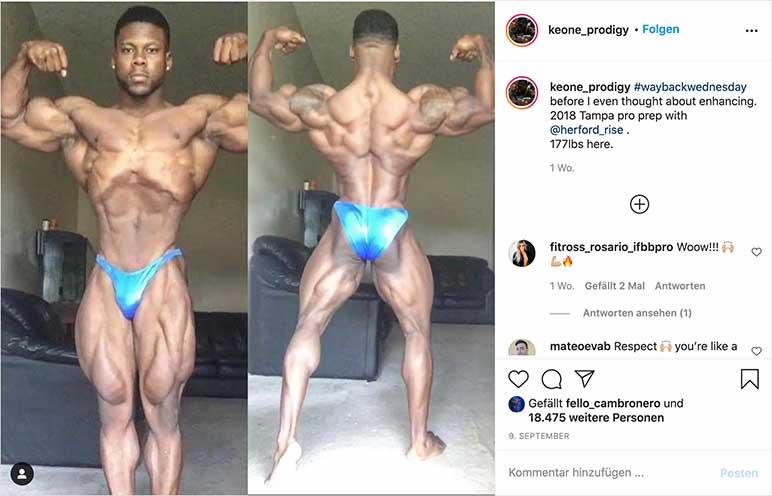 Instagram: Keone Pearson vor der Tampa Pro 2018