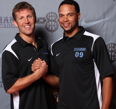Deron Williams with Ganon Baker at the Deron Williams Skills Academy